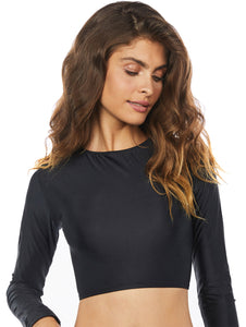 Solid-Color Cropped Top