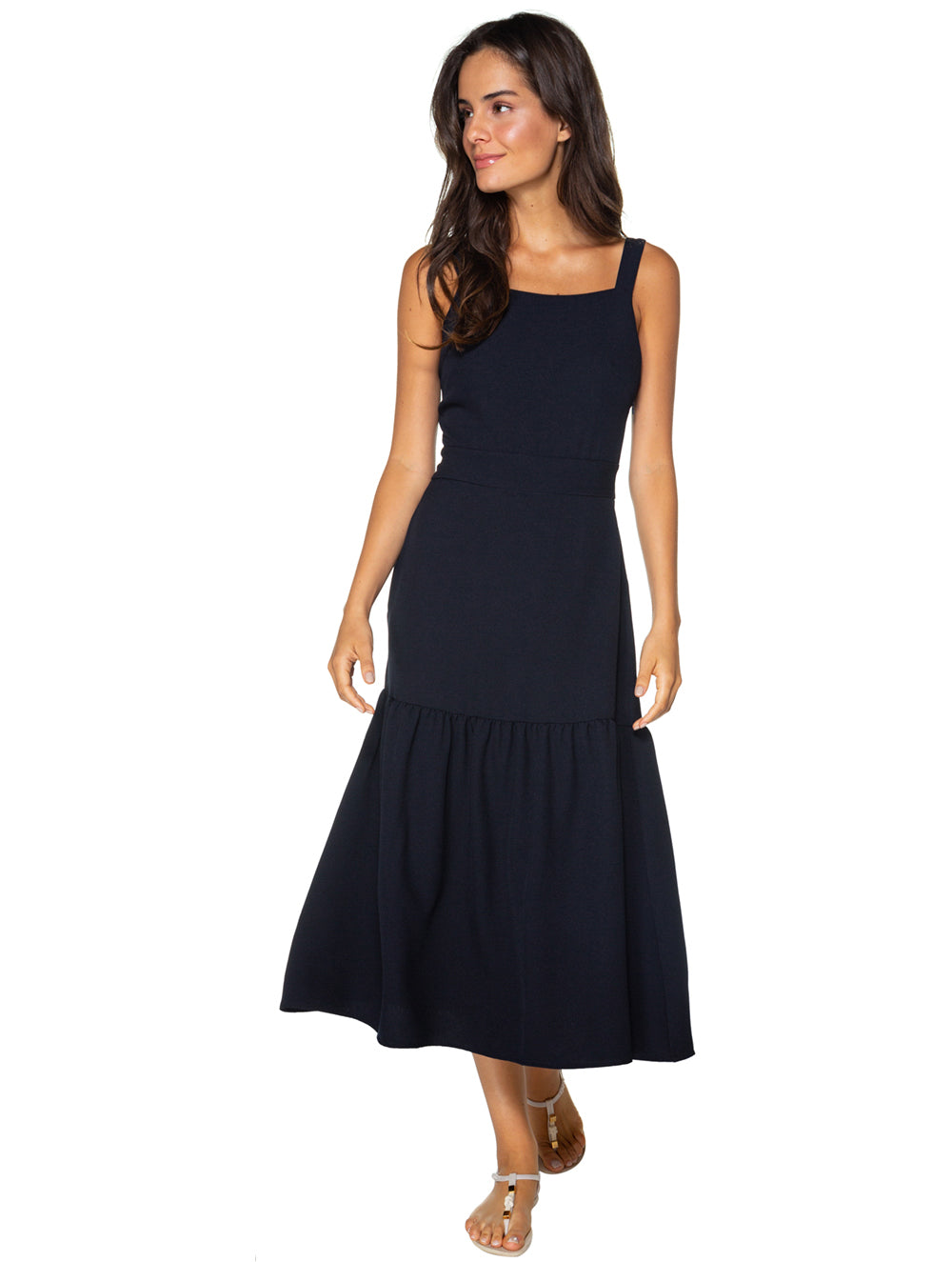 Alfaiataria Solid-color Midi Dress
