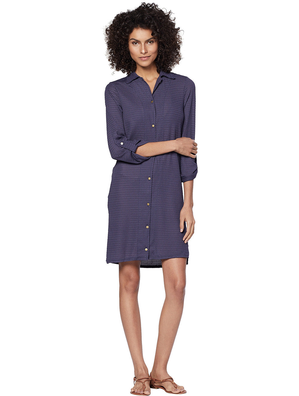 Kampala Long solid-color shirt