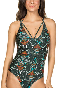Ganesh One-piece swimsuit with straps