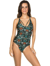 Load image into Gallery viewer, Ganesh One-piece swimsuit with straps