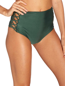 Solid-color Hot Pants with straps on the sides