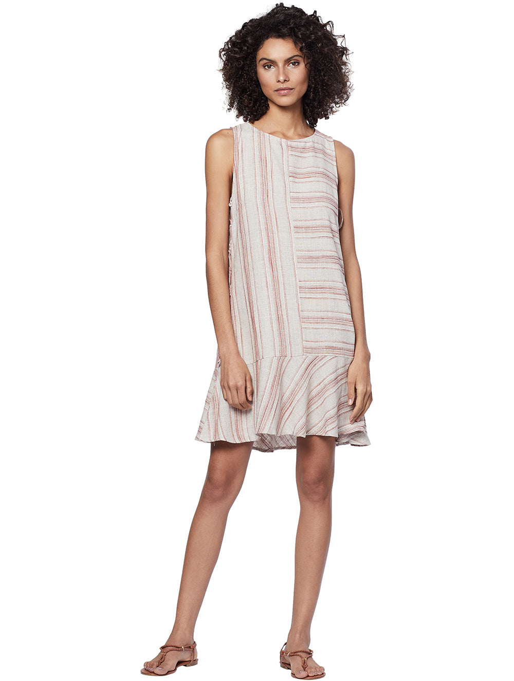 Zuri Striped Short Dress