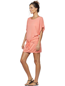 Solid-Color Short Overlap Dress
