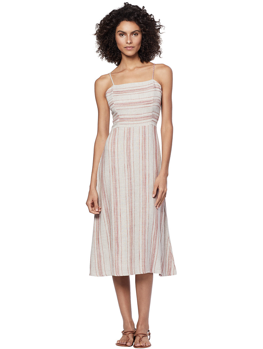Zuri Striped Midi Dress