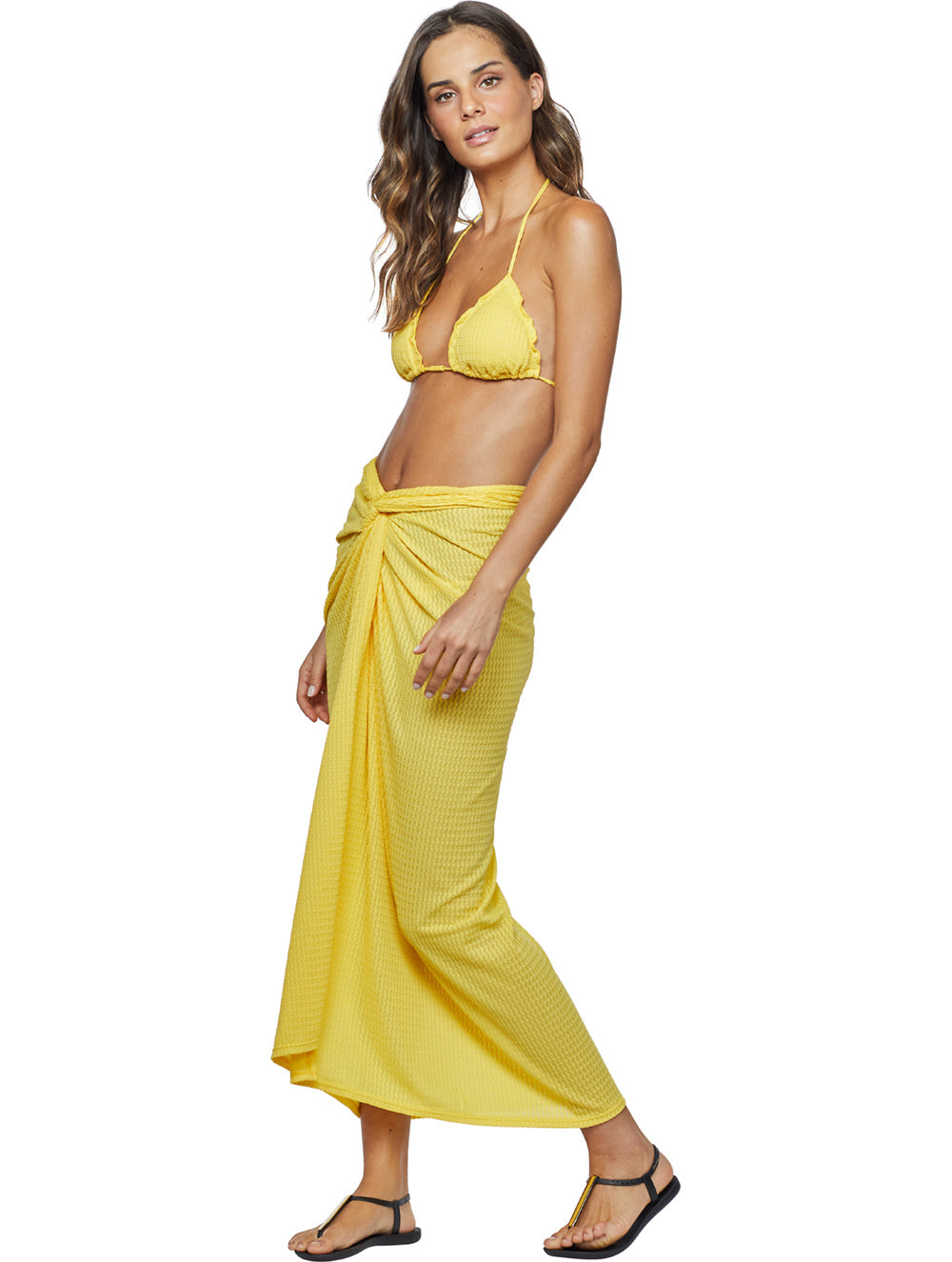 Embu Solid-Color Midi Sarong