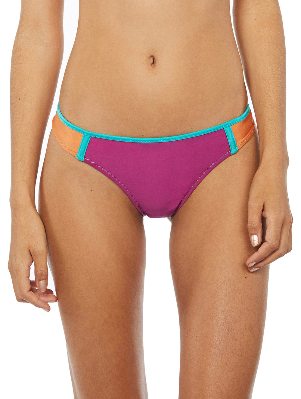 Tricolor Medium-Waist Bottom with Cutout