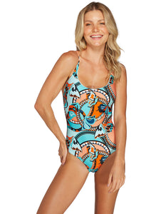 Barbados One-Piece with Thin Straps