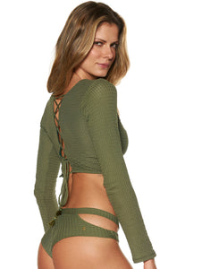 Mila Cropped Top with Long Sleeves