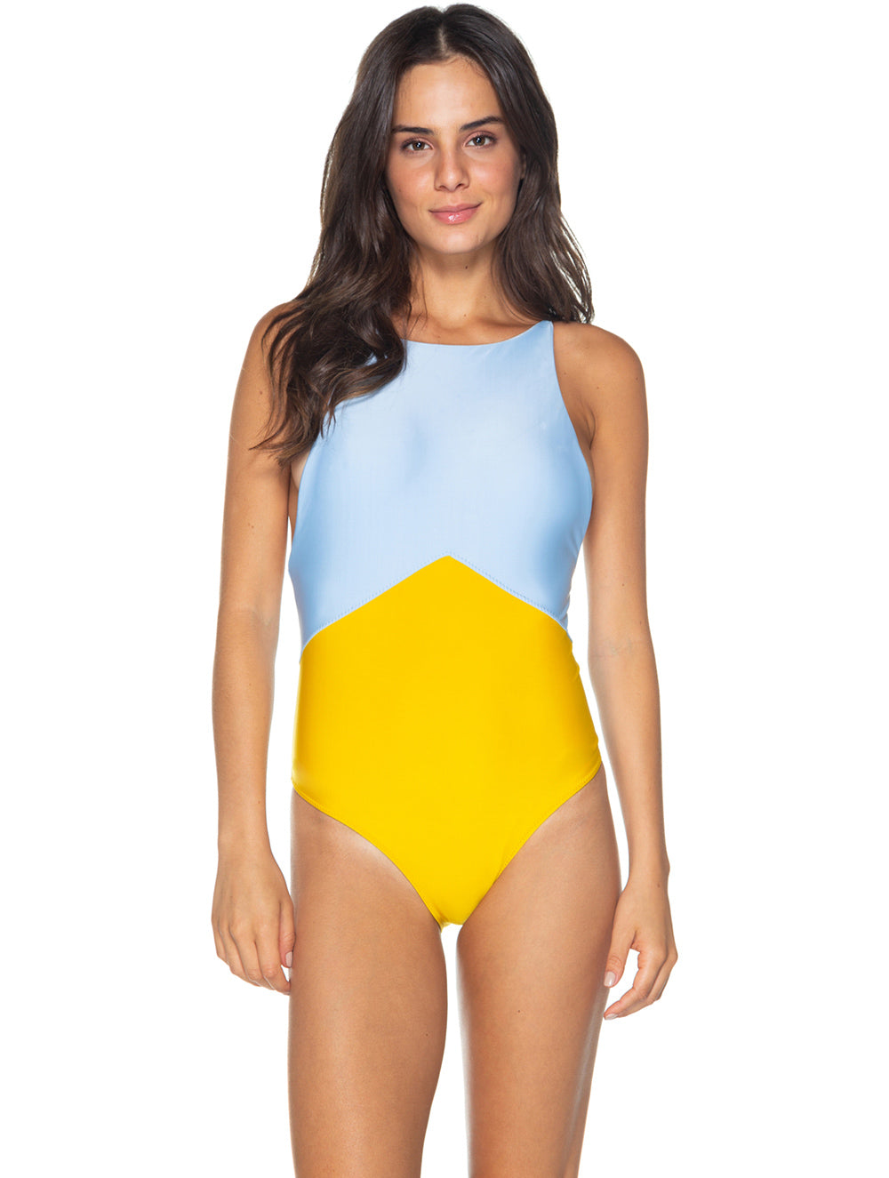 Miami Halter top One-piece with opening in back