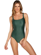 Load image into Gallery viewer, Solid-color One-piece Halter Top swimsuit with Cups