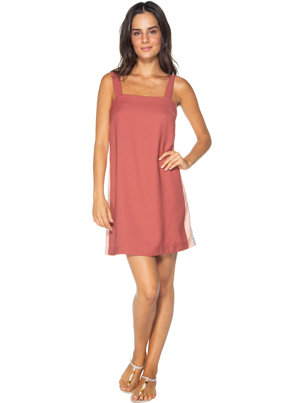 Solid-Color Cutouts Short Dress
