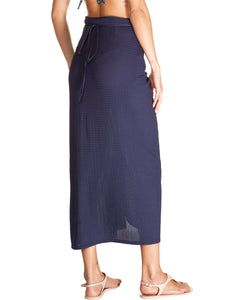 Kampala Midi solid-color Sarong