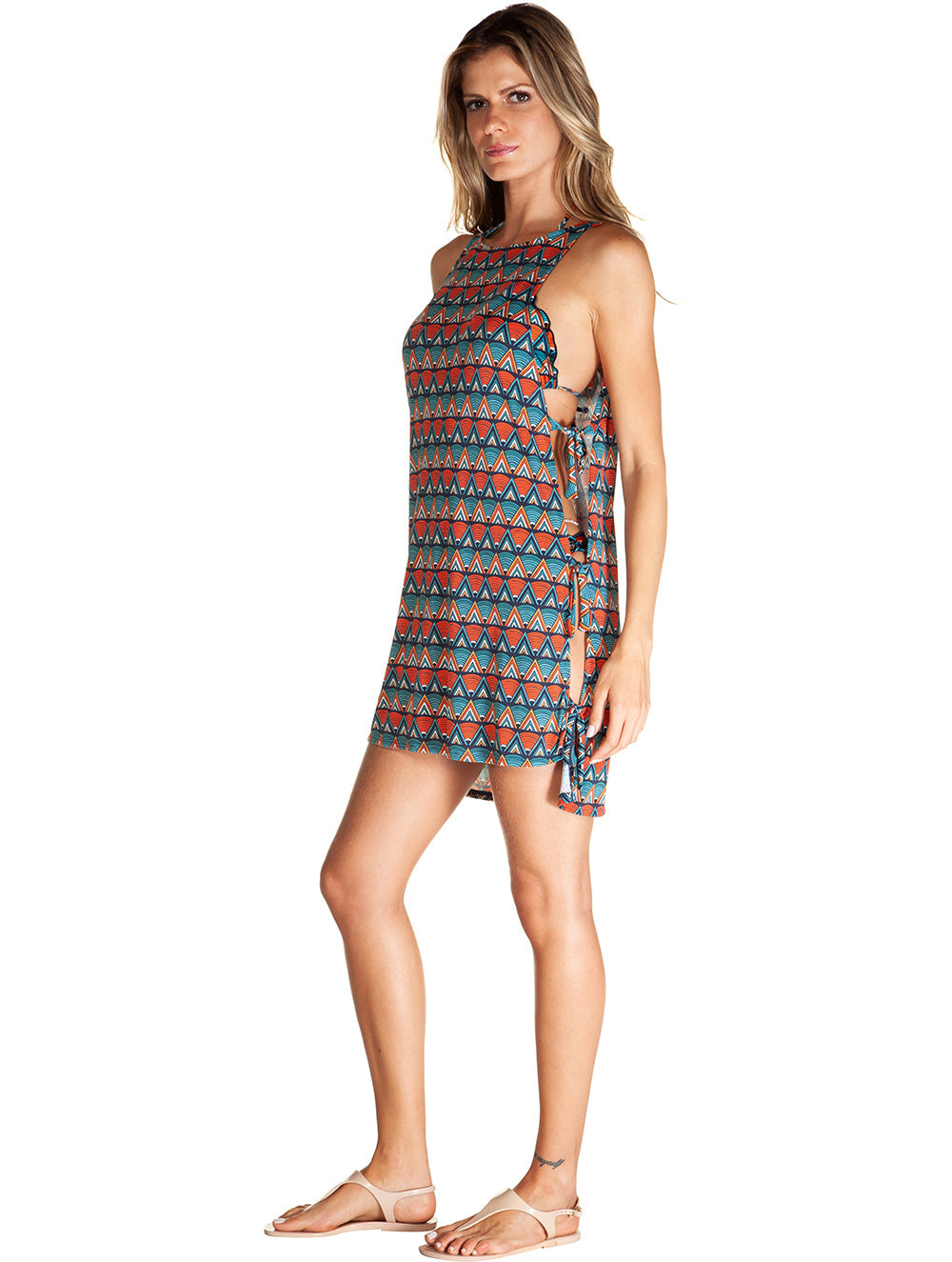 Madagascar Short Dress with Side Slit