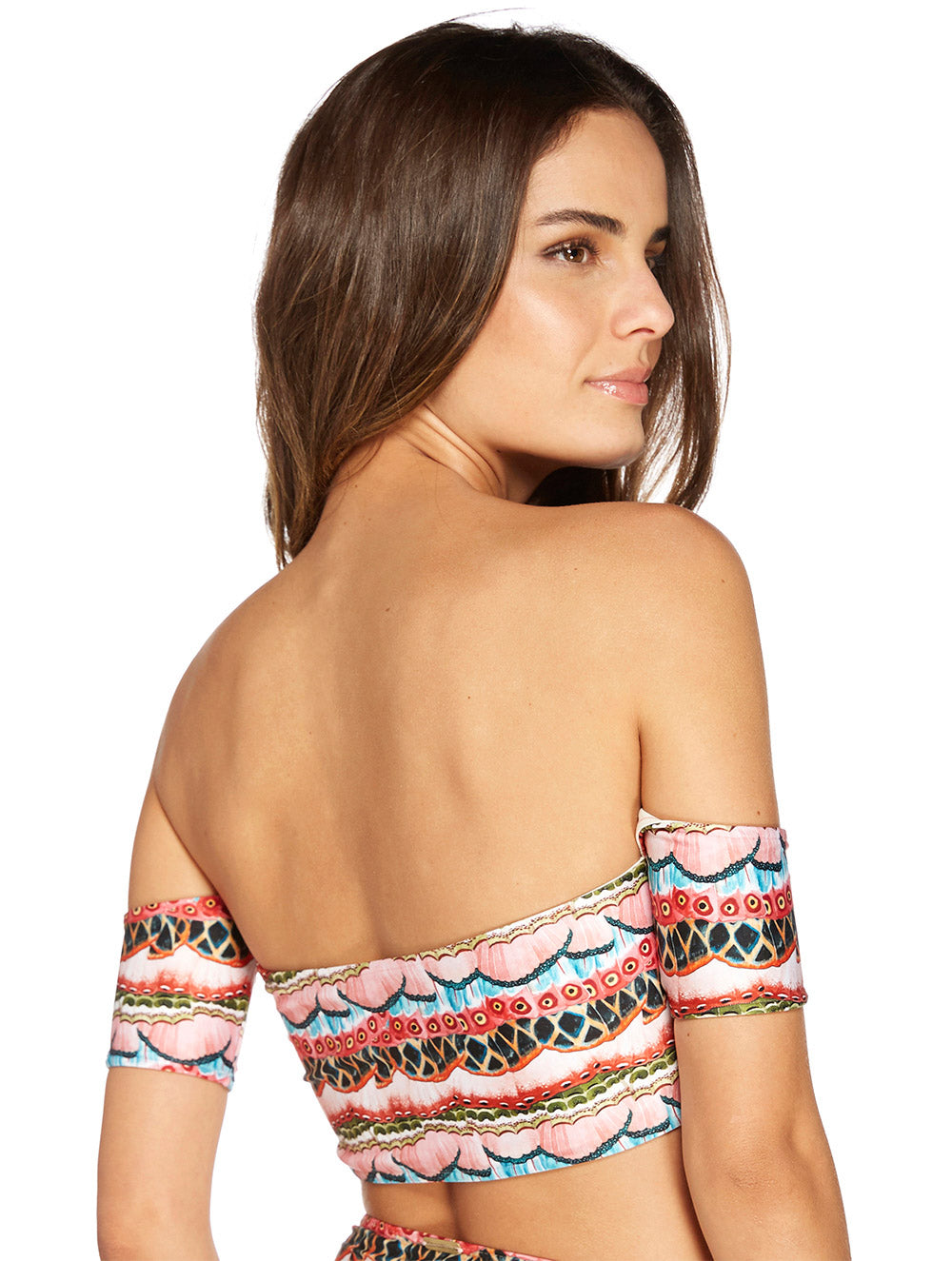 Dominica Strapless Top with Sleeves