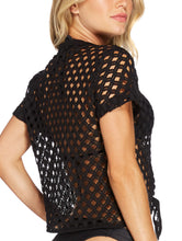 Load image into Gallery viewer, Solid-Color Fishnet T-shirt