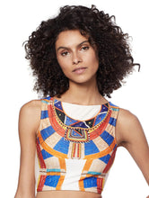 Load image into Gallery viewer, Africa Cropped Halter-Top One-Piece