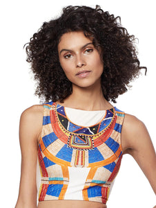 Africa Cropped Halter-Top One-Piece