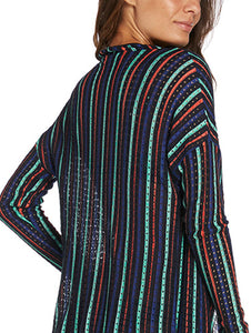 Fluid Striped Tricot Sweater
