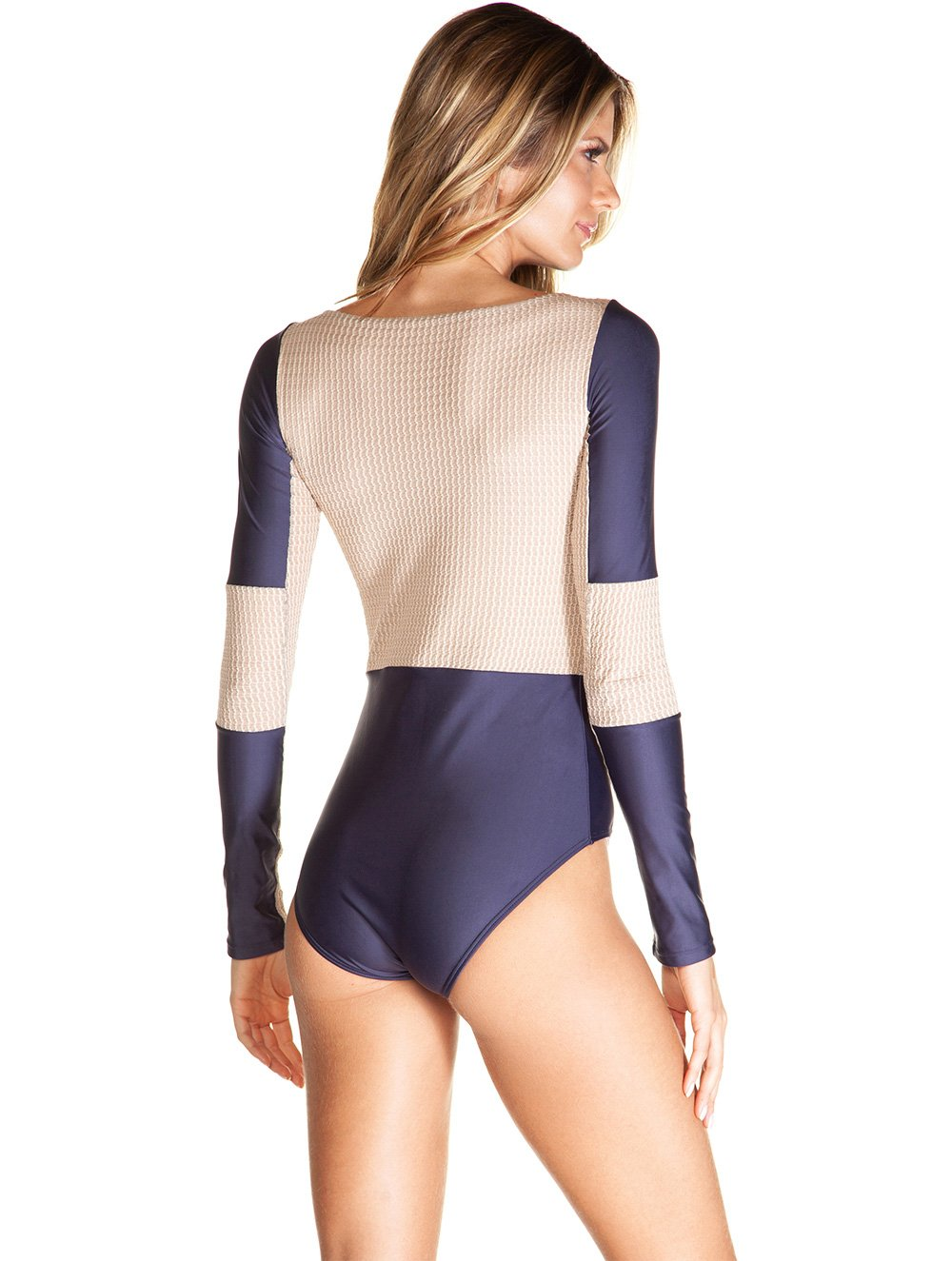 Kampala Long sleeve solid-color one-piece
