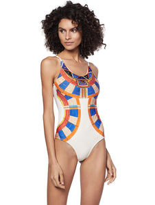 Africa One-Piece with Crossed Straps