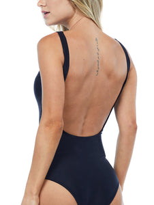 Solid-Color Halter Top One-Piece with Cups
