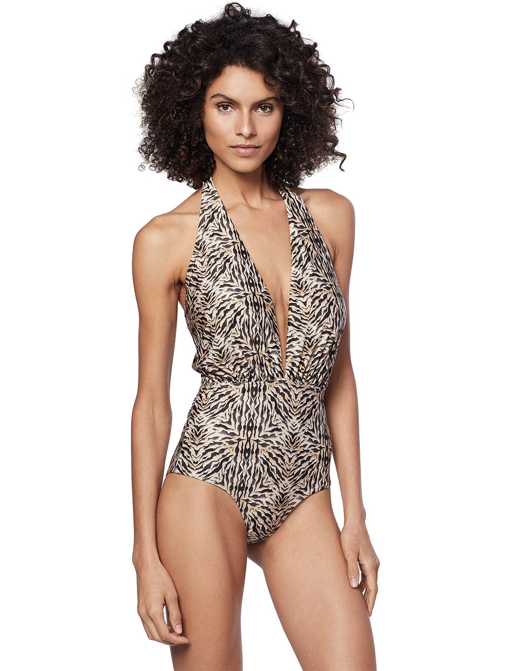 Safari One-piece Halter-neck Swimsuit