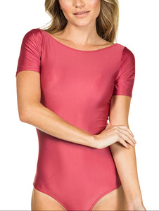 Solid-color Short sleeve body
