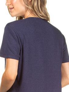 Solid-color T-shirt with knot detail