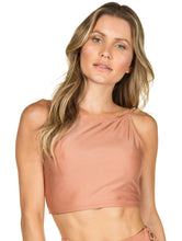 Load image into Gallery viewer, Solid-color Cropped Halter neck