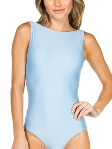 Solid-color Halter Neck Body