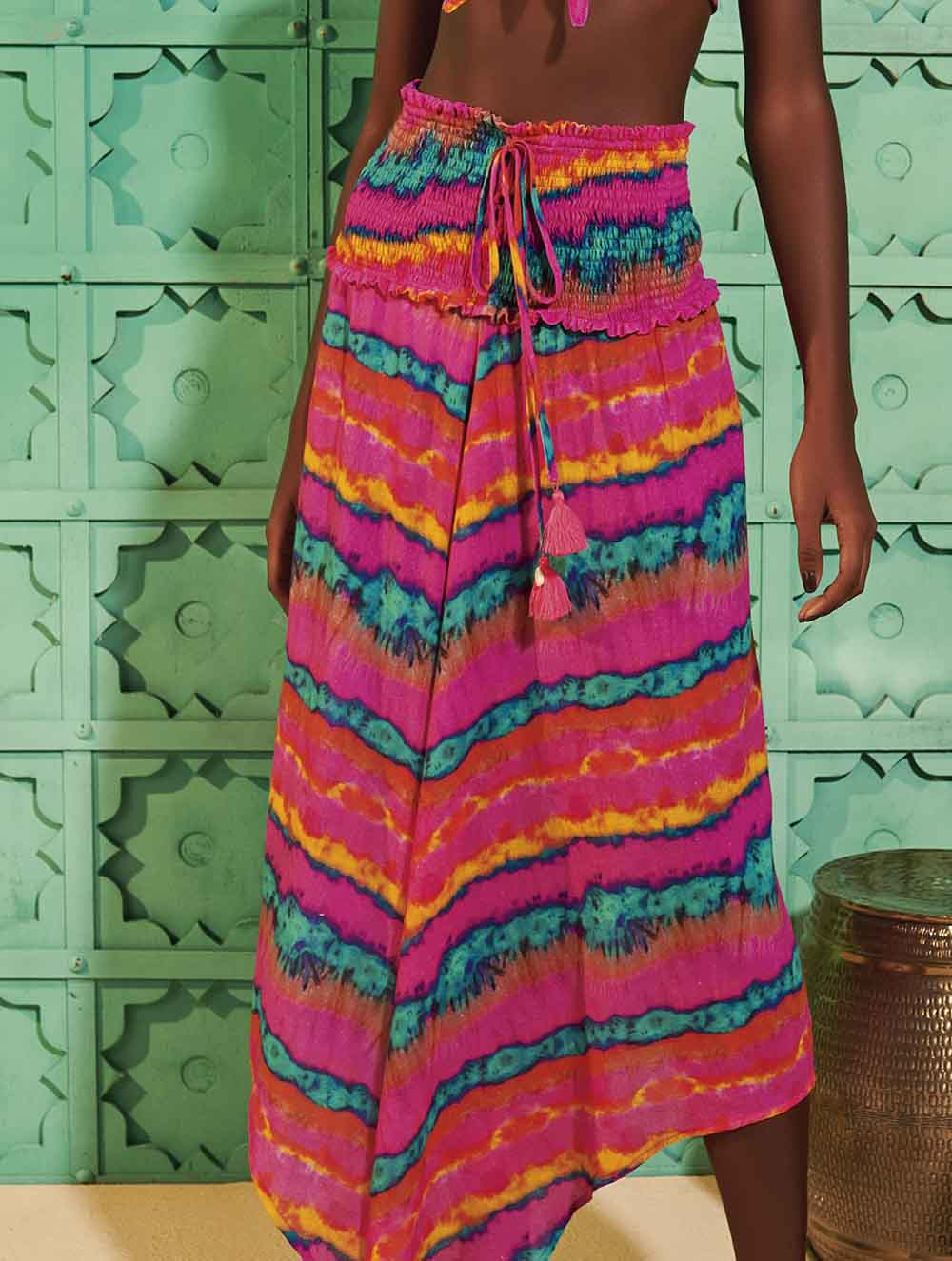 Goa Printed midi skirt