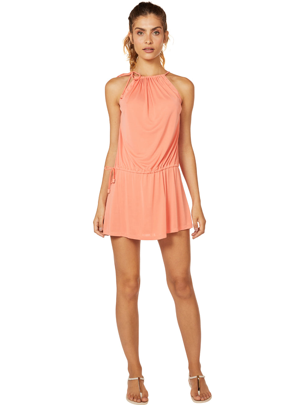 Solid-Color Short Dress
