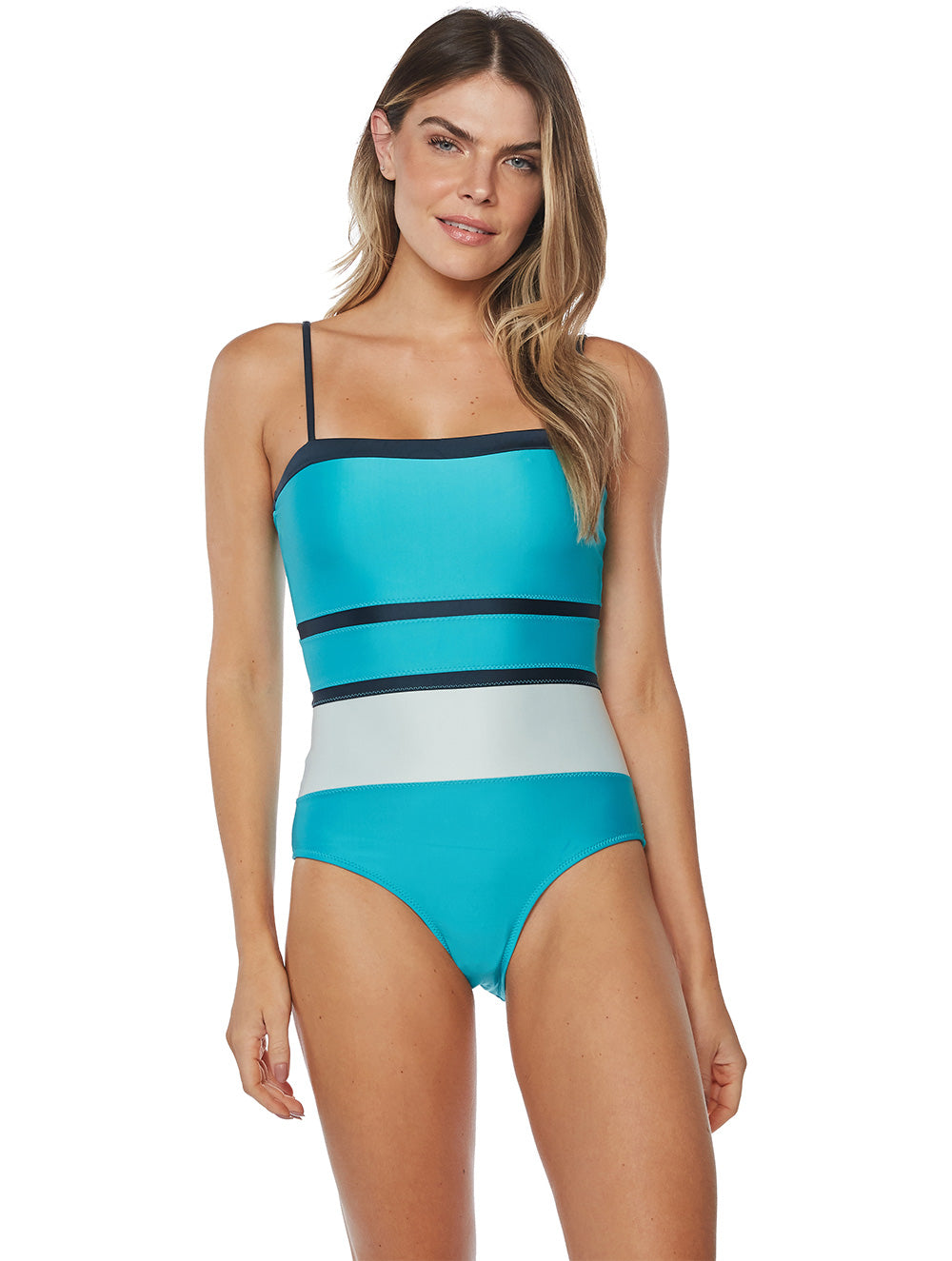 Solid-color Cutout One-piece