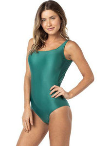Solid-color One-piece with cups