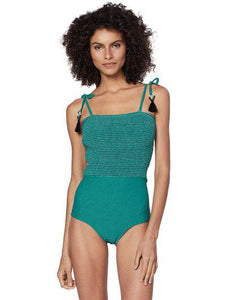 Solid-color Plissê One-Piece
