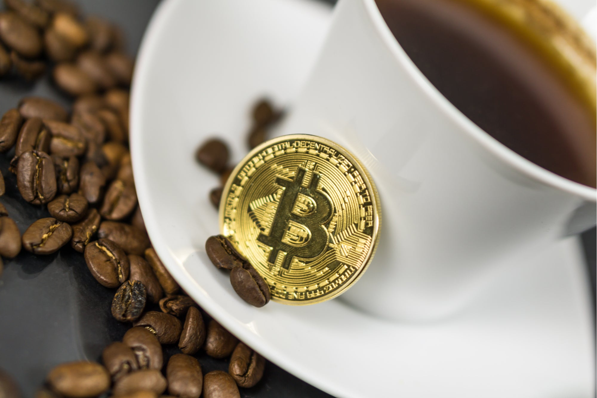 cryptocurrency and coffee