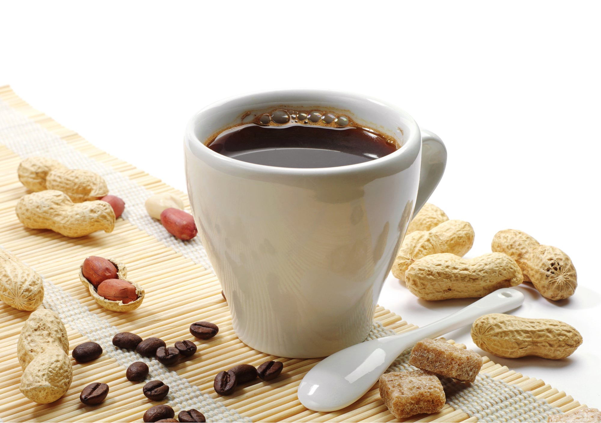 national peanut month - peanuts and coffee