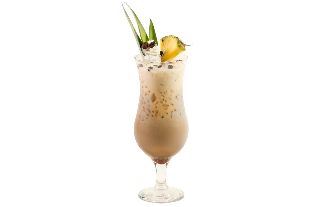 coffee colada non-alcoholic mocktail