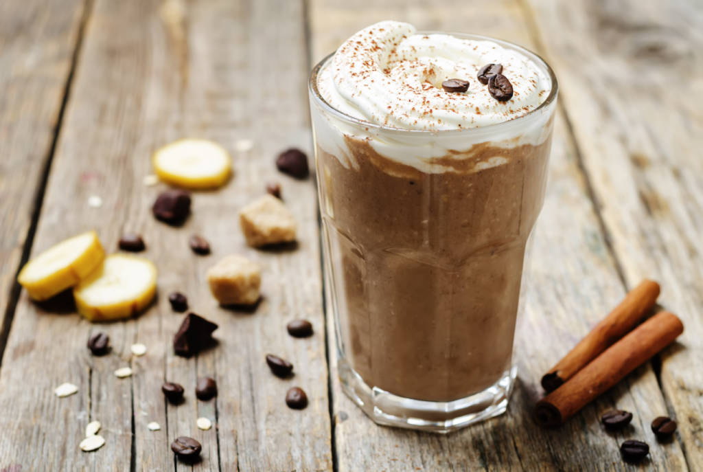 Frozen Coffee with Whipped Cream