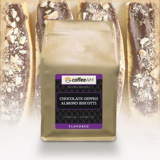 Chocolate-Dipped Almond Biscotti Flavored Coffee