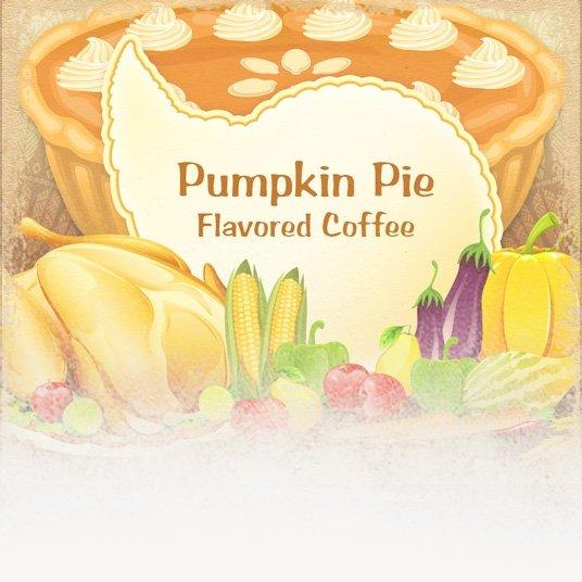 Pumpkin Pie Flavored Coffee (Thanksgiving Theme)