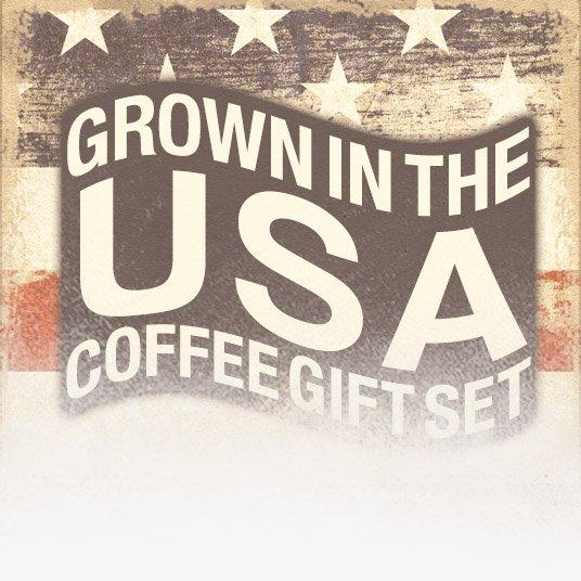 Grown in the USA Coffee Gift Set (Patriotic Theme)