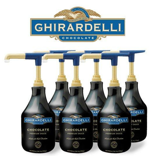 Ghirardelli Black Label Chocolate Sauce, Case (6) units of 64 oz.