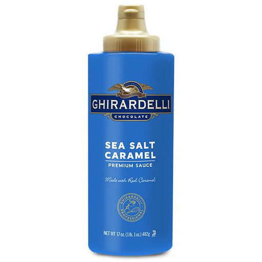 Ghirardelli Sea Salt Caramel Sauce Squeeze Bottle, 16 oz