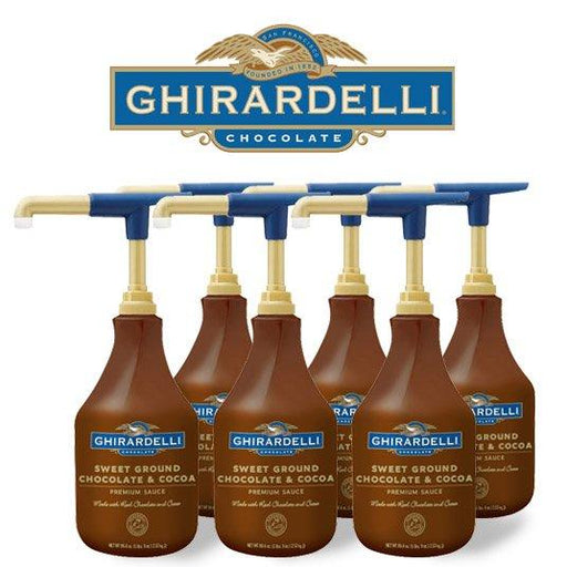 Ghirardelli Sweet Ground Chocolate & Cocoa Sauce, Case of 6