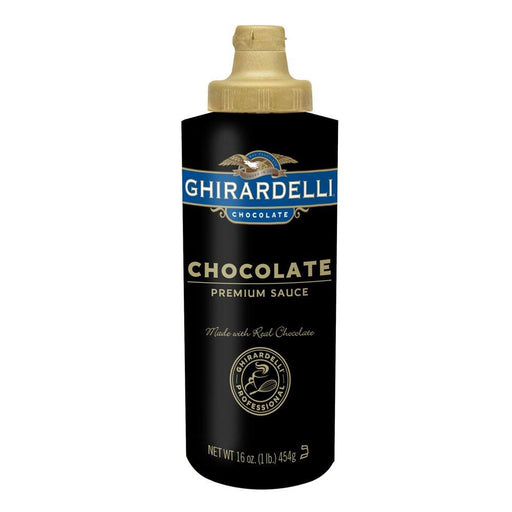Ghirardelli Black Label Chocolate Sauce Squeeze Bottle, 16 oz