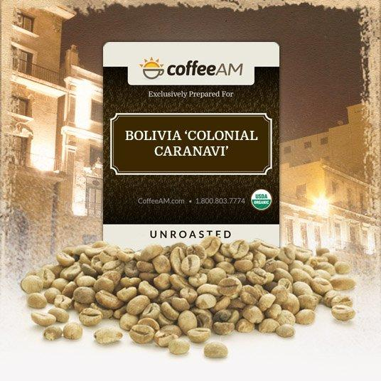 Fair-Trade Organic Bolivia Green Coffee
