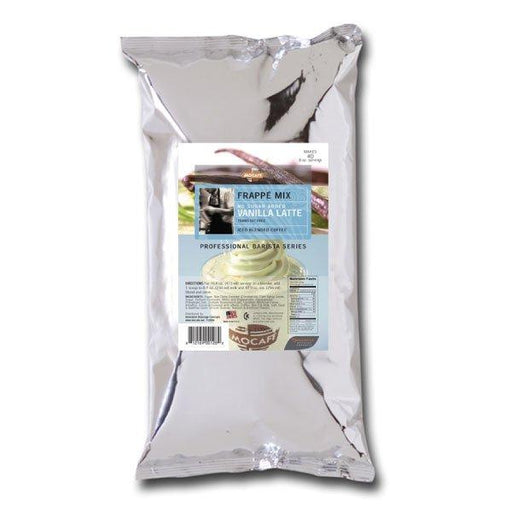 Mocafe No Sugar Added Vanilla Latte Frappe Mix, Case (4) 3 lb Bags