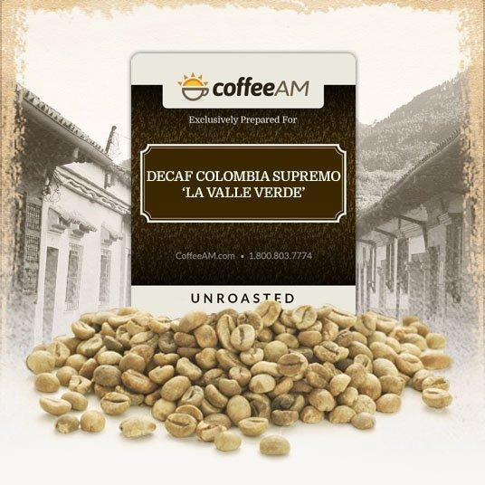Decaf Colombia Supremo Green Coffee